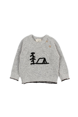Buho Land knit pullover - pearl
