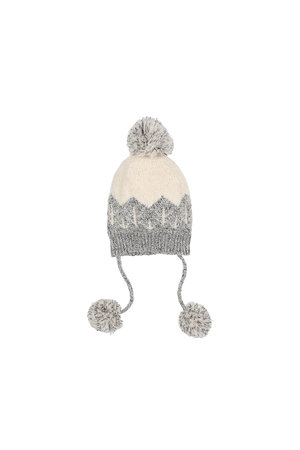Buho Forest baby knit hat - grey/ecru
