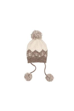 Buho Forest baby knit hat - safari/ecru