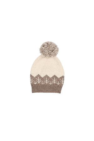 Buho Forest knit hat - safari/ecru