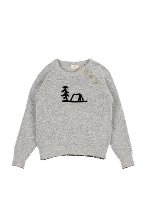 Buho Land kids pullover - pearl