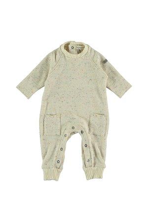 My little cozmo Jumpsuit baby knit - ivory