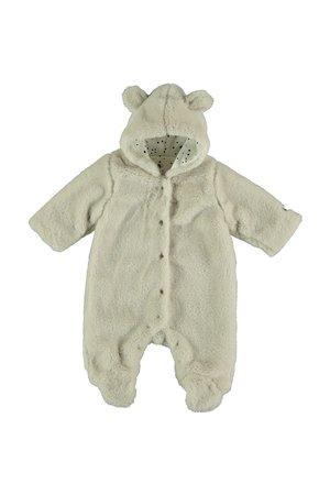 My little cozmo Fur jumpsuit baby teddy - stone