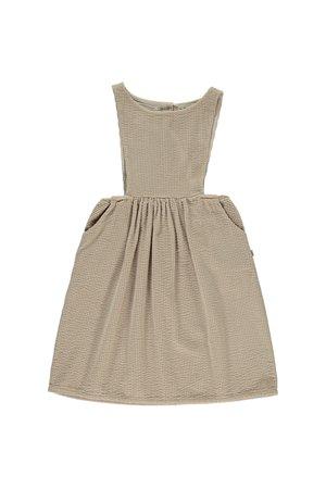 My little cozmo Pinafore dress baby corduroy - beige