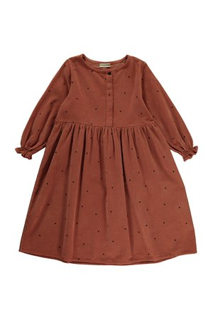 My little cozmo Dress kids dots - rust