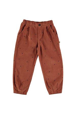 My little cozmo Trousers kids dots - rust