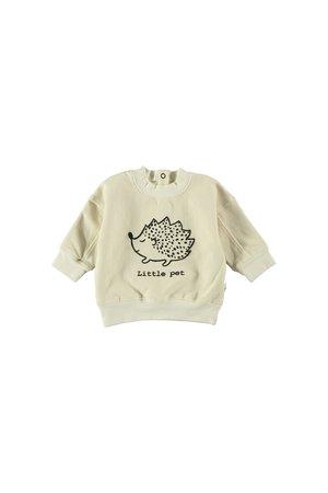 My little cozmo Sweatshirt baby organic fleece - ivory
