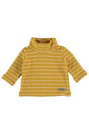 My little cozmo Roll neck jersey baby premium stripes - mustard