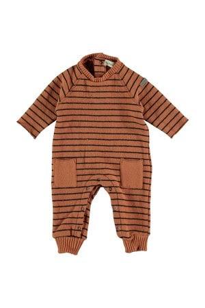 My little cozmo Jumpsuit baby premium striped - rust