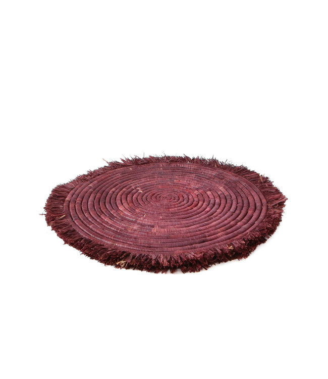 Burgundy large fringed schaal