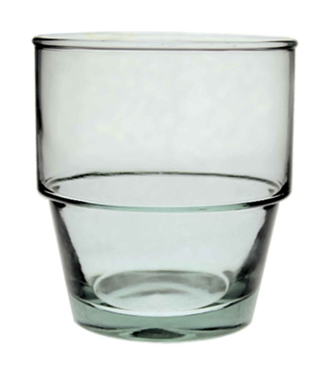 Recycled glass tumbler large