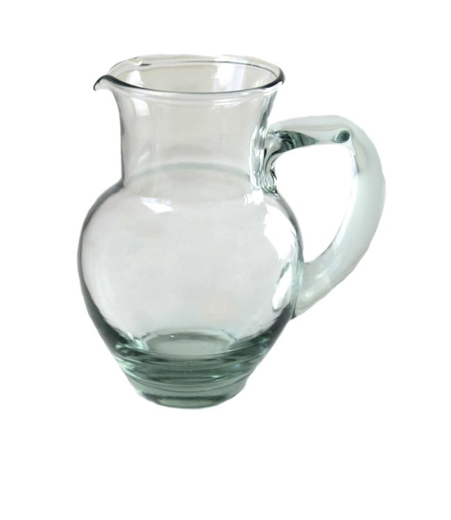 Recycled glass pitcher small