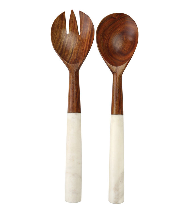 Slabestek hout & marmer