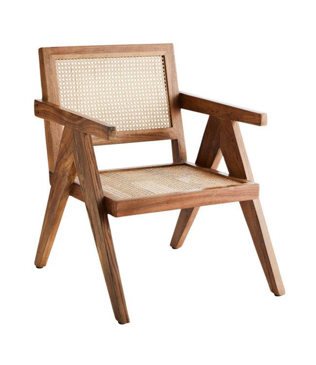 Lounge stoel met riet