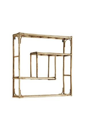 Bamboo shelf , quadratic