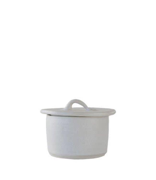 White gres sugar bowl
