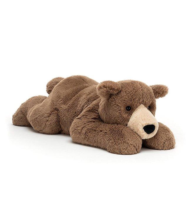 Jellycat Limited Woody bear lying
