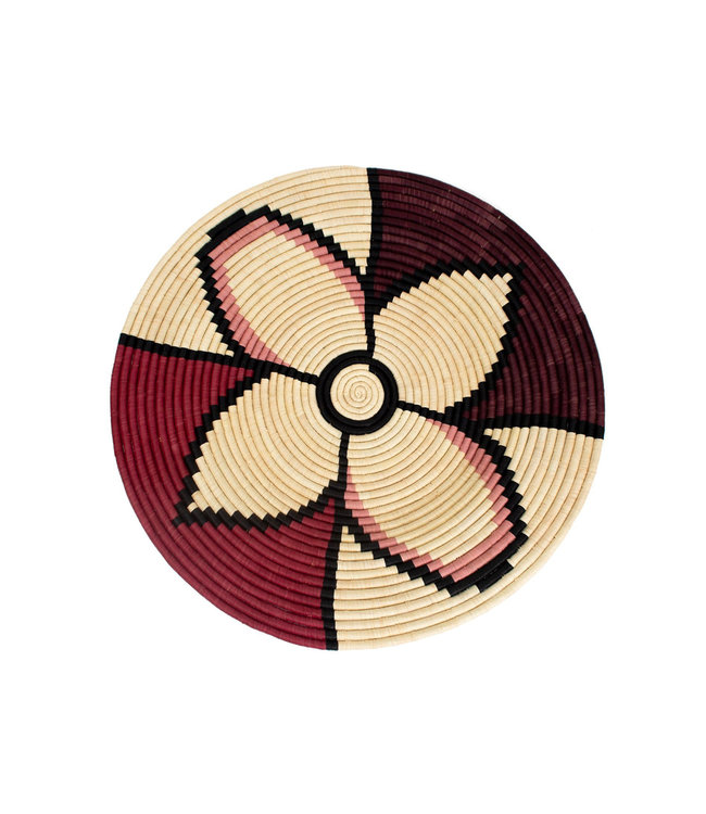 Amelia burgundy plate II