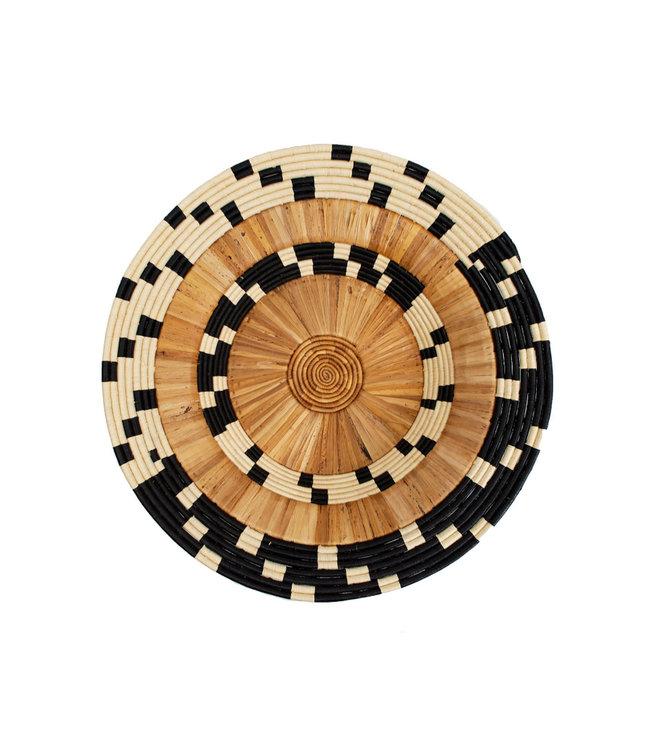 Checkered banana bark jumbo bowl
