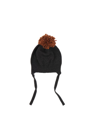 Phil & Phae Pompon baby hat - charcoal