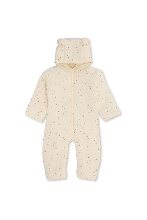 Konges Sløjd New born onesie with hood - mille marine, off white