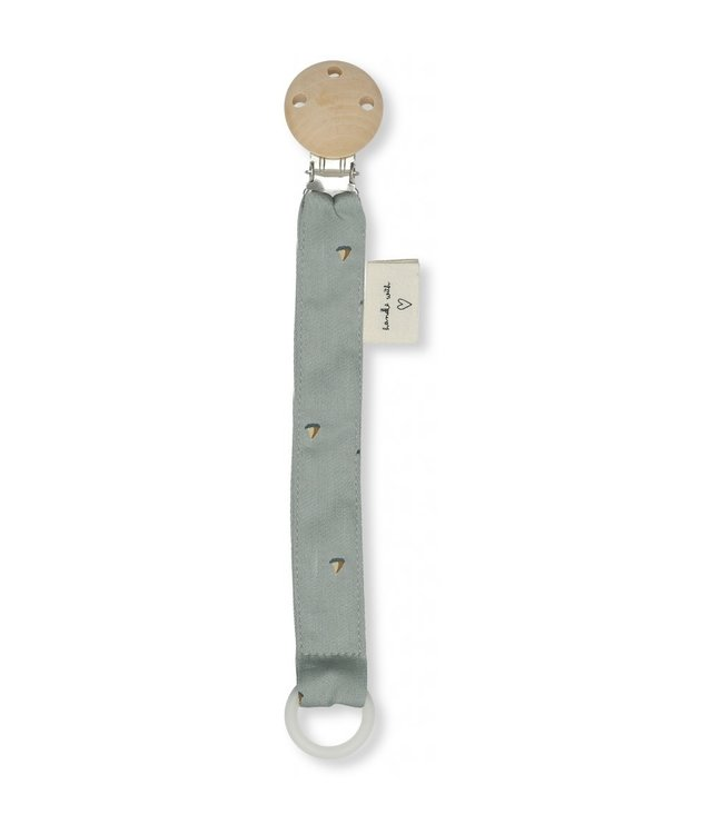 Konges Sløjd Pacifier strap cotton - mille marine, french blue