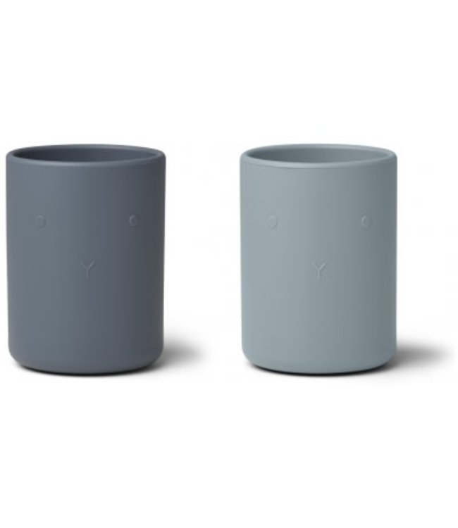 Ethan cup 2 pack - blue mix