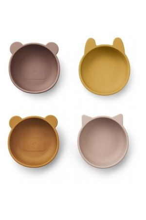 Liewood Iggy silicone kommetje 4 pack - rose mix