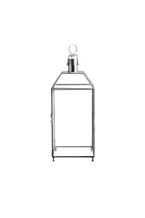 Tine K Home 4-sided glass lantern, silver