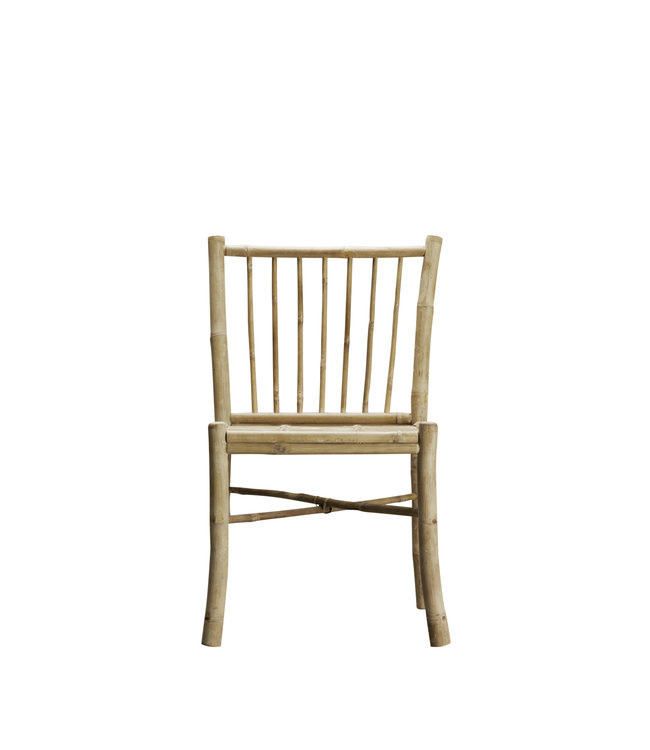 Bamboo dining side chair without armrest, natural
