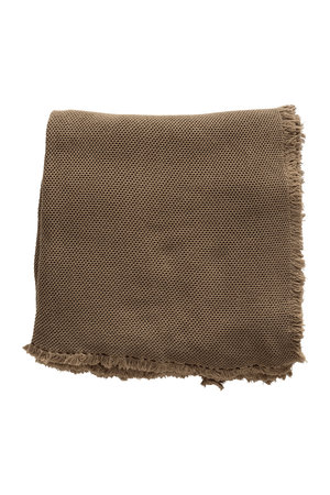 Tine K Home Bed throw, honeycombed - walnut