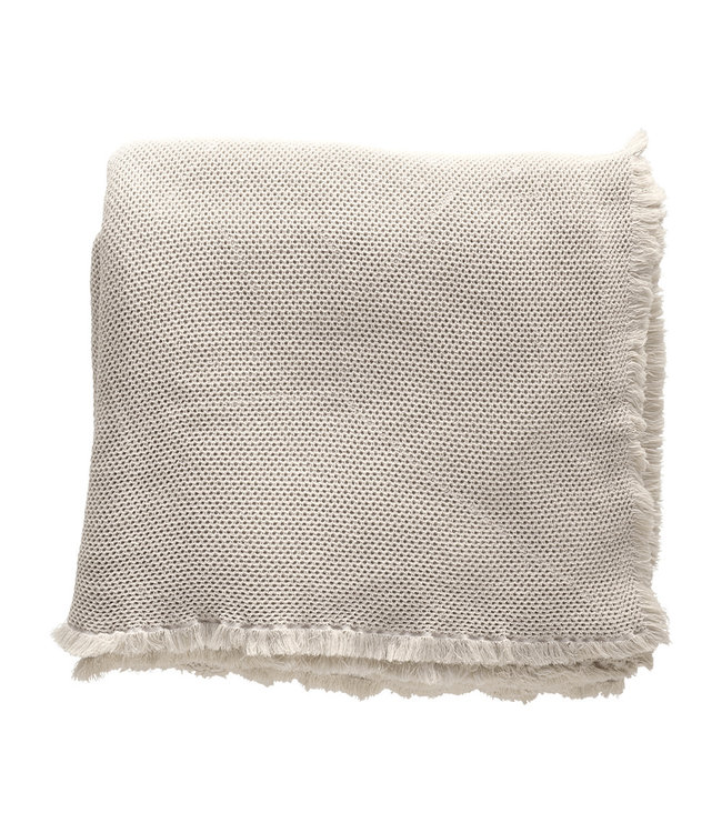 Tine K Home Bed throw, honeycombed - sand