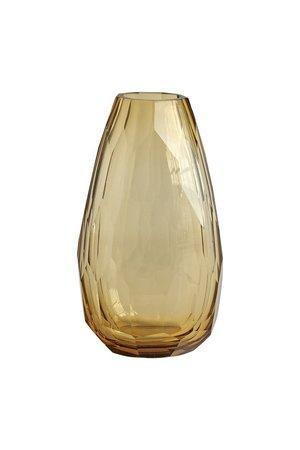 Tine K Home Heavy crystal vase - amber