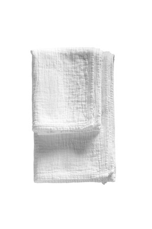 Tine K Home Zachte voorgewassen handdoek - wit