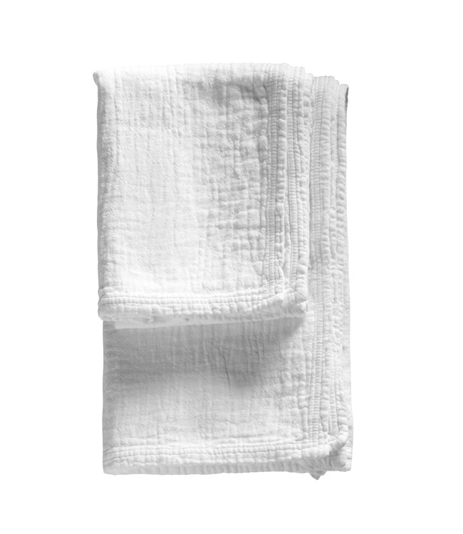 Zachte voorgewassen handdoek - wit