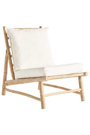 Tine K Home Bamboe stoel met witte kussens
