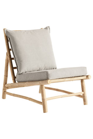 Tine K Home Bamboo chair with grey cushions