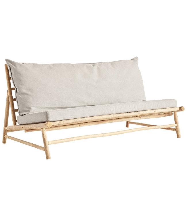 Tine K Home Bamboe lounge zetel met grijze kussens