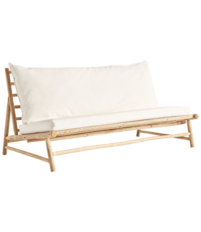 Tine K Home Bamboo lounge couch with white cushions