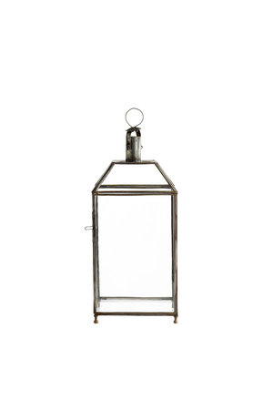 Tine K Home 4-sided glass lantern, brass