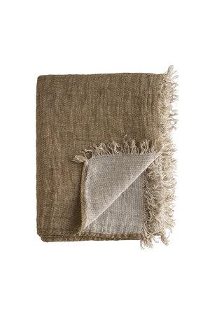 Tine K Home Linen plaid - walnut