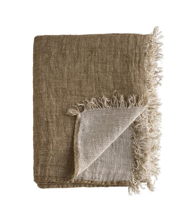 Linen plaid - walnut
