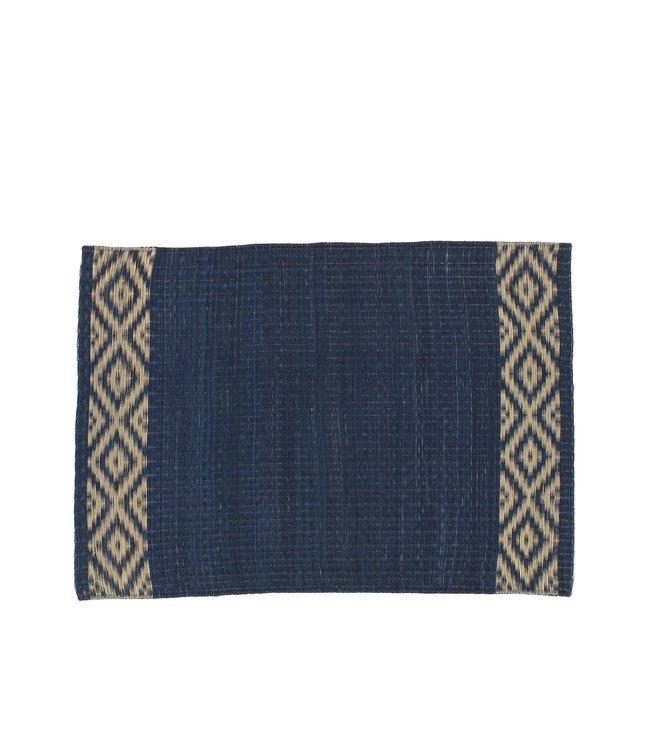 Caravane Madur kathi riet placemat - indigo
