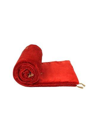Caravane Velvet sofa cover - paprika