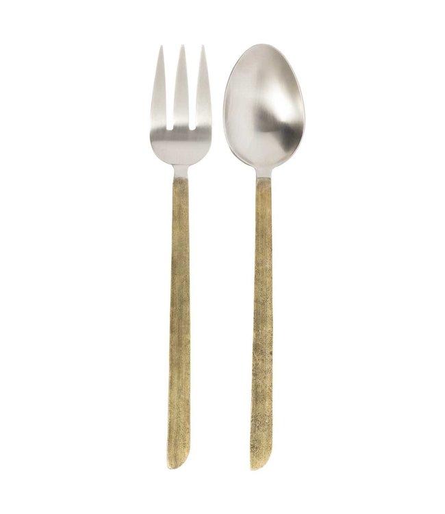 Salad servers  Aurea - gold/silver