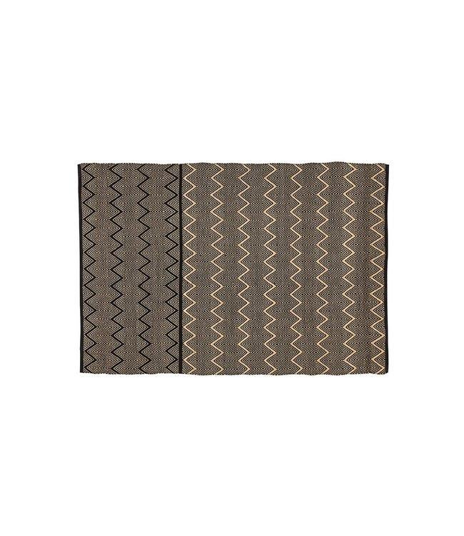 Zeegras tapijt 'Duoba' - zwart