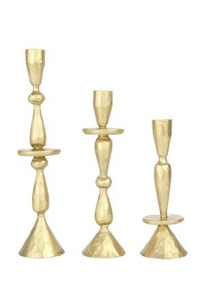Caravane Set van 3 kandelaars Jya - goudkleurig