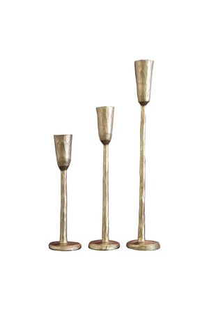 Caravane Set of 3 candle holders Nox - gold