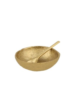 Caravane Saucer & spoon 'Java' - gold
