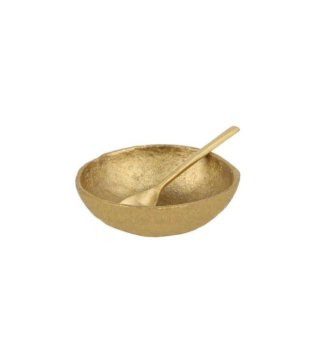 Saucer & spoon 'Java' - gold